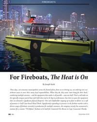 MN Dec-19#46 FIREBOATS Credit:  Metal Shark For Fireboats, T e Heat is