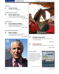 MN Jan-20#2 CONTENTS MarineNews  January 2020  •  Volume 31   Number