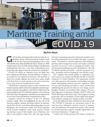 MN Jul-20#26 TRAINING Maritime Training amid  COVID-19 Hornblower By