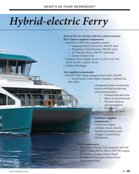 MN Jul-20#39 WHAT'S IN YOUR WORKBOAT? Hybrid-electric Ferry Each of the