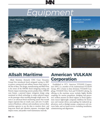 MN Aug-20#64 ,  impact exposure data on vessels, seats, and crew. A combi-
