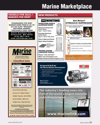 MN Aug-20#77 Marine Marketplace VESSELS FOR SALE /  NEW PRODUCTS BARGE