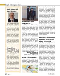 MT Oct-12#52  Þ  rst subsidiary in  Oceania.MacArtney Australia provides