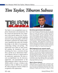 MT Jan-15#10 Five Minutes With Tim Taylor, Tiburon Subsea Tim Taylor, Tiburon
