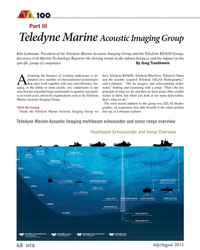 """MT Jul-15#68  the recently acquired Teledyne ATLAS Hydrographic,""""  Athat"""