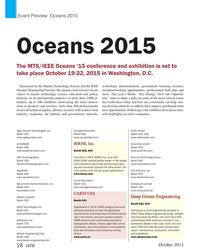 MT Oct-15#58  Oceans 2015 Oceans 2015 The MTS/IEEE Oceans '15 conference and