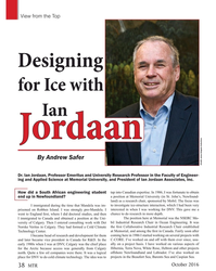 MT Oct-16#38 . Ian Jordaan, Professor Emeritus and University Research