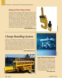 MT Oct-16#58  unveiled its largest standard Webtool ? ber rope cutter:  the