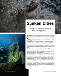 MT Nov-17#53 Sunken Cities Long-lost Egyptian Artifacts  Are Coming to