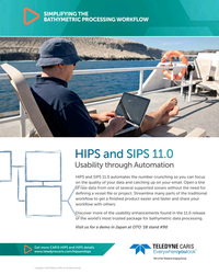 MT May-18#7   BATHYMETRIC PROCESSING WORKFLOW Usability through Automation HIPS