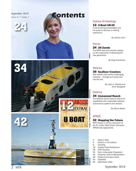 MT Sep-18#2 September 2018 Contents Volume 61 • Number 7 Subsea