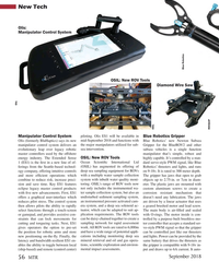 MT Sep-18#56 New Tech Olis: Manipulator Control System Blue Robotics OSIL
