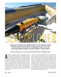 MT Oct-18#42 x SeaExplorer Underwater Glider: A New Tool to Measure