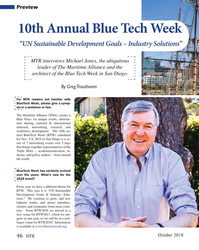 "MT Oct-18#46 Preview 10th Annual Blue Tech Week  ""UN Sustainable"