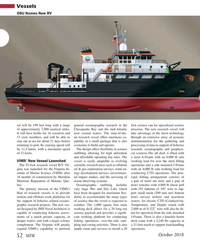 MT Oct-18#52 Vessels OSU Names New RV sel will be 199 feet long with a