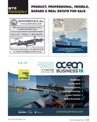 MT Oct-18#63 PRODUCT, PROFESSIONAL, VESSELS,  MTR BARGES & REAL ESTATE