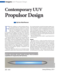 MT Jan-19#20  UUV  Propulsor Design By Don MacPherson rom the standpoint