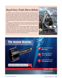 MT Jan-19#25 Royal Navy Trials Micro-Robots ecoSUB has been successfully