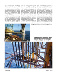 MT Mar-19#30 cost of decommissioning, up to 70% of  saving here would