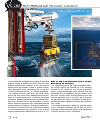 MT Mar-19#38 oices Martin McDonald, SVP, ROV Division, Oceaneering A