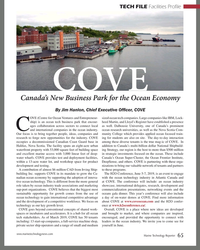 MT Mar-19#65 TECH FILE Facilities Profile COVE Canada's New Business