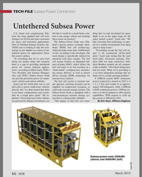 MT Mar-19#66 , or fuel cell, was some- By Eric Haun, Offshore Engineer Subsea