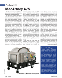 MT Apr-19#58 Products LARS MacArtney A/S The MacArtney Group is a