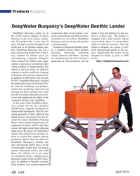 MT Apr-19#60 Products Buoyancy DeepWater Buoyancy's DeepWater Benthic