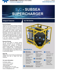 MT Apr-19#5 +1.410.771.8600 www.teledynees.com S?C - SUBSEA  SUPERCHARGE