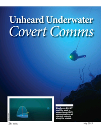 MT May-19#26 Unheard Underwater Covert Comms BlueComm 200 UV  could be