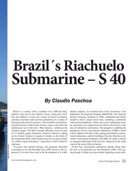 MT May-19#35 Brazil´s Riachuelo Submarine – S 40   By Claudio Paschoa Bra