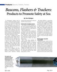 MT May-19#58 Products Beacons, Flashers, Trackers Beacons, Flashers &
