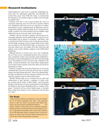 MT Jun-19#52 Research Institutions understanding for coral reefs is