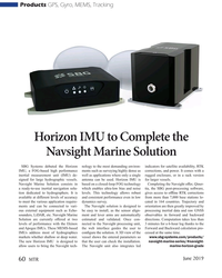 MT Jun-19#60 Products GPS, Gyro, MEMS, Tracking Horizon IMU to Complete