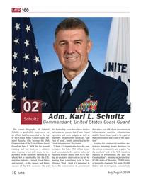 MT Jul-19#10 MTR 100 U.S. Coast GUard Adm. Karl L. Schultz  Schultz Comma