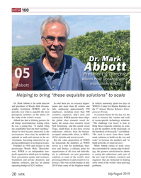 MT Jul-19#20 MTR 100 Dr. Mark  Abbott  President & Director,  Woods