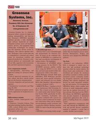 MT Jul-19#30 MTR 100 Greensea  Systems, Inc.  Richmond, Vermont,