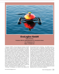 MT Jul-19#33  Kebkal No. of Employees: 35 https://evologics.de/ EvoLogics