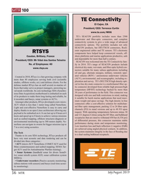 MT Jul-19#56  products, RTsys developed a new micro- connectors offer