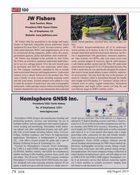 MT Jul-19#74  all of its underwater  water metal detectors, ROVs, and magnetomet