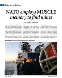 MT Sep-19#16   memory to f  nd mines By Edward Lundquist The NATO Center