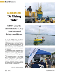 "MT Sep-19#56 Event Robotics Robotics:  ""A Rising  Tide"" WHOI's Center"