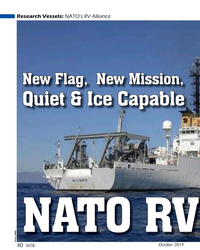 MT Oct-19#40 Research Vessels: NATO's RV Alliance New Flag,  New Mission