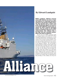 MT Oct-19#41 By Edward Lundquist NATO's 3,100-ton, 305-foot research