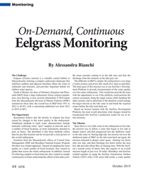 MT Oct-19#44 Monitoring On-Demand, Continuous  Eelgrass Monitoring By