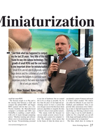 "MT Nov-19#27 Miniaturization ""Just think what has happened to comput- ers"