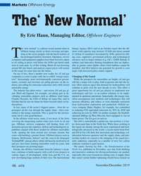 MT Nov-19#46 Markets Offshore Energy The' New Normal' By Eric Haun, Managing