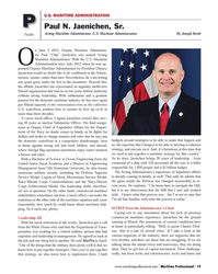MP Q2-14#19   Maritime Administrator. With the U.S. Maritime  Administration
