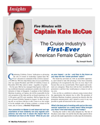 MP Q3-15#10     By Joseph Keefe ontinuing Celebrity Cruises' dedication