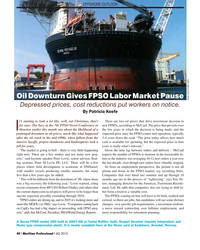 MP Q4-15#40 OFFSHORE OUTLOOK Oil Downturn Gives FPSO Labor Market